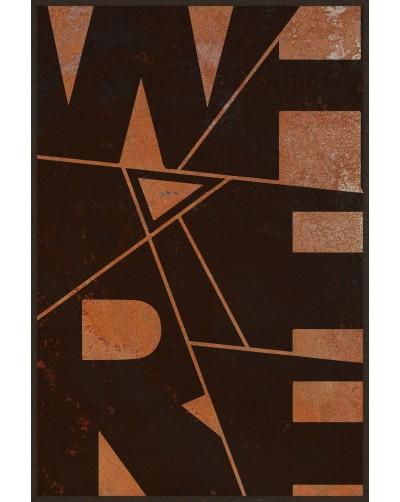 Obraz na rdzy metal poster loftowy ŁAMIGŁOWKA
