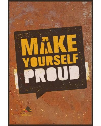 Obraz na rdzy metal poster loftowy PROUD