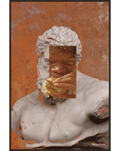 Obraz na rdzy metal poster loftowy POSĄG
