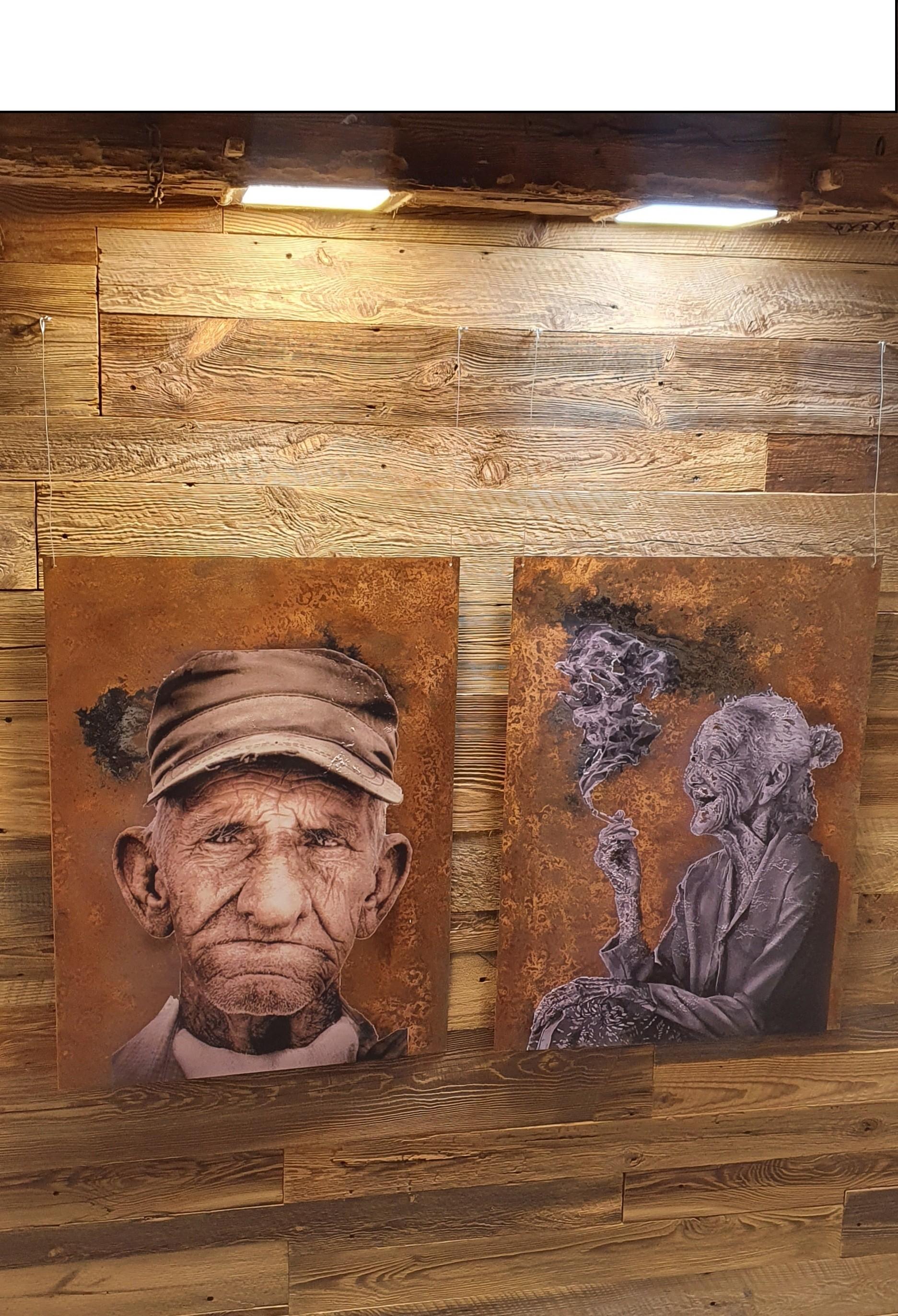 Rustykalny obraz na drewnie